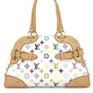 Louis Vuitton Monogram Multicolor Claudia GM Tote